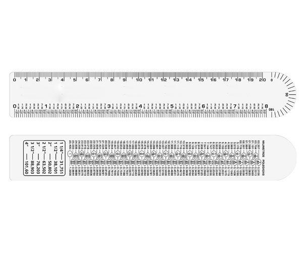 Régua flexível ferragista 20 cm