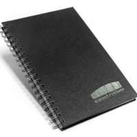 caderno 17x24 escovado preto