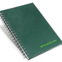 caderno 17x24 escovado verde