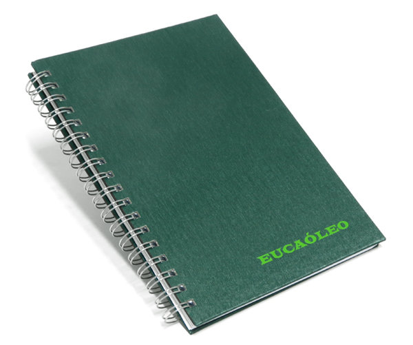 Cadernos Personalizados escovado verde 17x24 cm