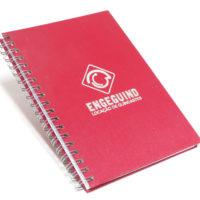 caderno 17x24 escovado vermelho
