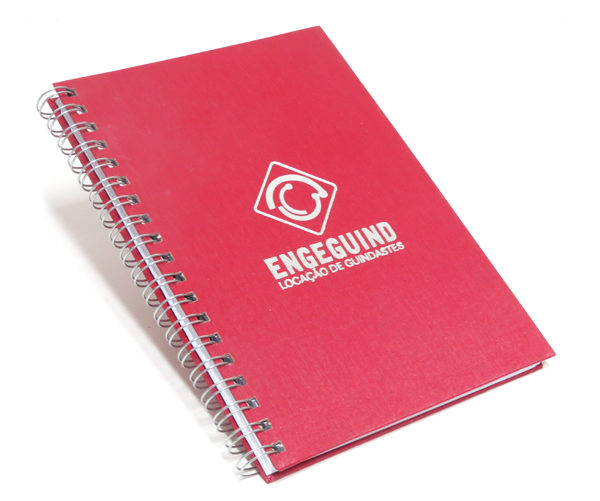 Cadernos Personalizados escovado vermelho 21x28 cm