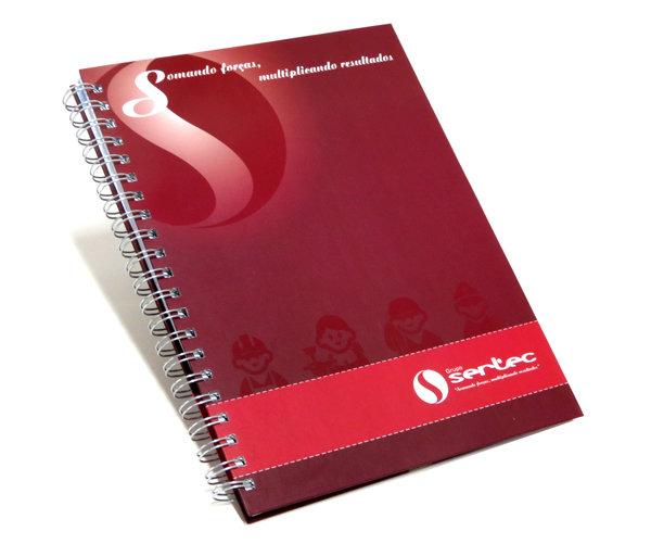 Cadernos Personalizados em offset 21x28 cm