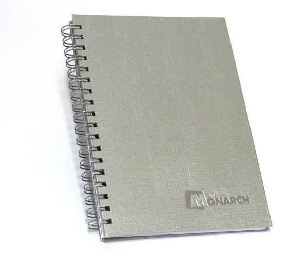Cadernos Personalizados Linho prata 17x24 cm