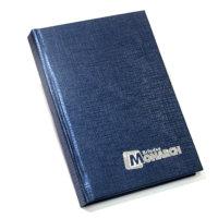 agenda capa dura linho azul
