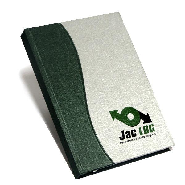 agenda capa dura silhueta verde