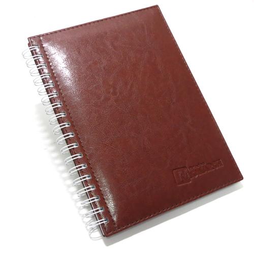 Cadernos Personalizados couro sintético Barroco 17×24 cm